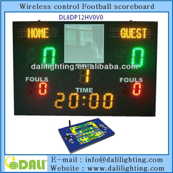 2016 new invented technology portable football scoreboard in china