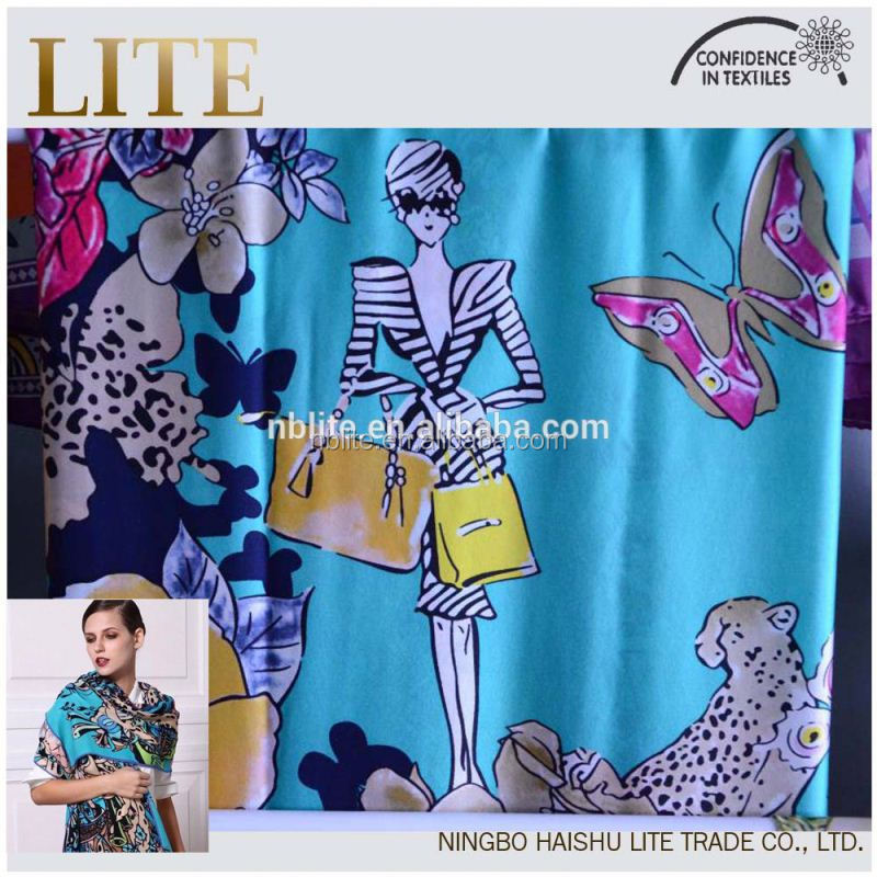 gorgeous print pure silk scarf