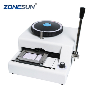 ZONESUN 68 or 72 Character PVC Card Embosser card embosser and printer machine