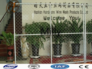 USA standard chain link temporary fencing panels /chain wire mobile panel fence/ diamond panel fence direct factory