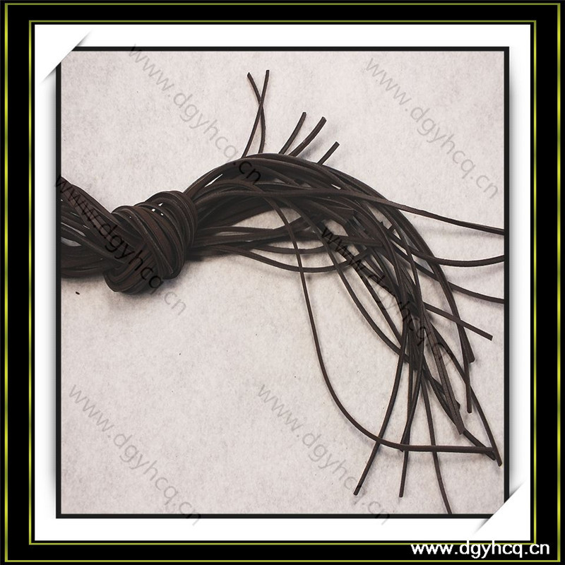 best quality strength real cow leather shoelace for brand boots