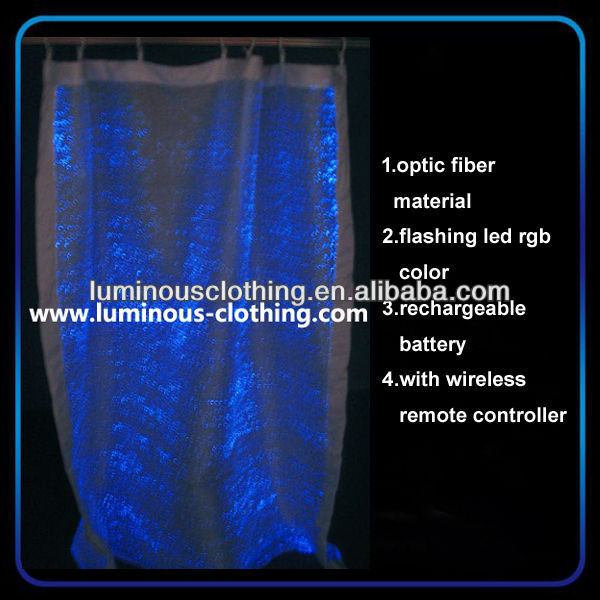 led decor lumin curtain for wedding hall