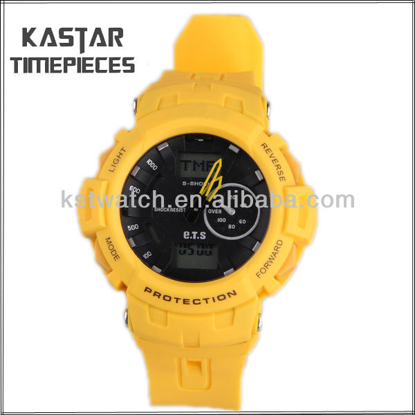 chinese world time digital watches plastic bezel watches