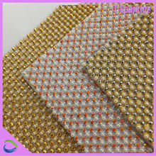 pearl crystal mesh fabric rhinestone crystal rhinestone sew on strip mesh