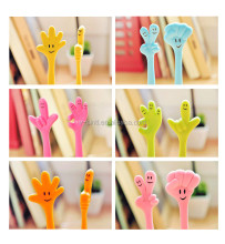 Creative stationery and lovely shape hand neutral pen students dry ball-point pen emoji pen shape