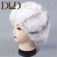 Wholesale korea styling free sex girls with animals free mink fur hat