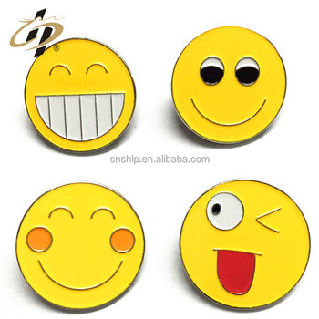 Wholesale cheap high quality custom metal emoji bollywood mp3 songs badge holder