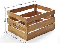 Hot Sale Wood Box Fruit Crate Wooden Vegetable Crates, Wood Pallet Fruit Packaging Box