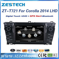 For Toyota corolla 2014 LHD auto parts car gps navigation with DVD/Radio/GPS/Bluetooth/3G/SD/USB/SWC