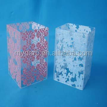 Soft pu frame and acrylic back cover printing flower case