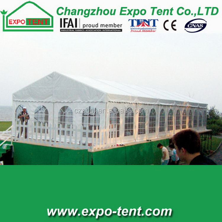 Top end professional party tent double deck