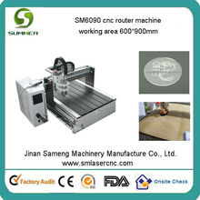 SM6090 cnc advertising router machine with 10 free cnc tools