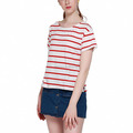 2018 New Women's T Shirt Apparel NEW Summer Women T-shirt Casual Striped Female Loose Tees Streetwear Brief Style Lady Pullover