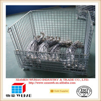 Wire Container,Wire Mesh Cage Type and Heavy Duty Scale stackable steel baskets