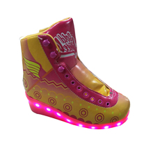 Hot sale skates pu quad wheel derby skates flashing