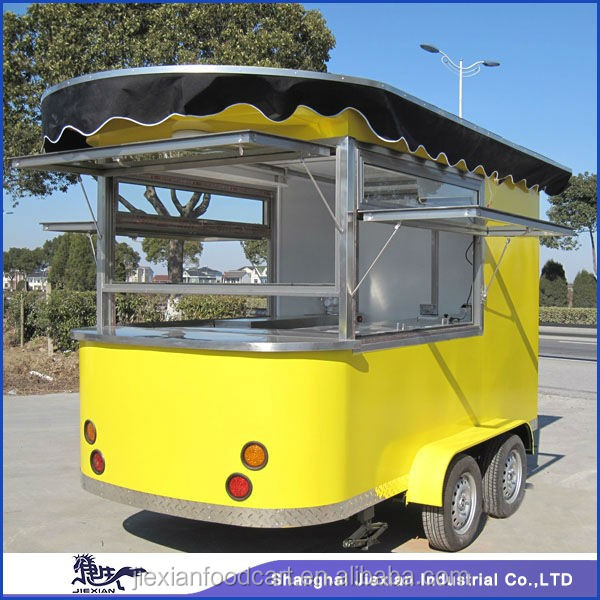 JX-CR320 Banana split/hot dog/ ice cream / bakery food trailer manufactured by China