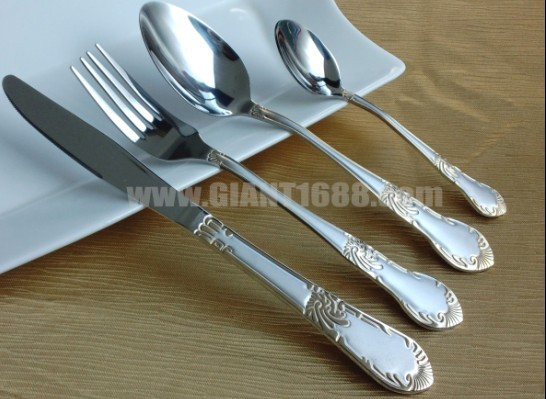 SGS certificated food grade SS flatware set for hotel/restaurant