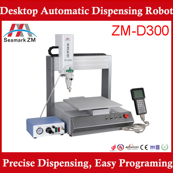 glue dispenser Automatic epoxy glue Dispenser Machine ZM-300ED mobile phone shell glue dispensing robot