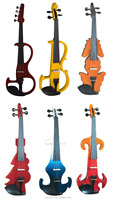 Full size China Cheap Price Yellow Color Electric Violins for sale