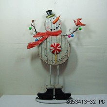 winter outdoor metal large snowman decorations