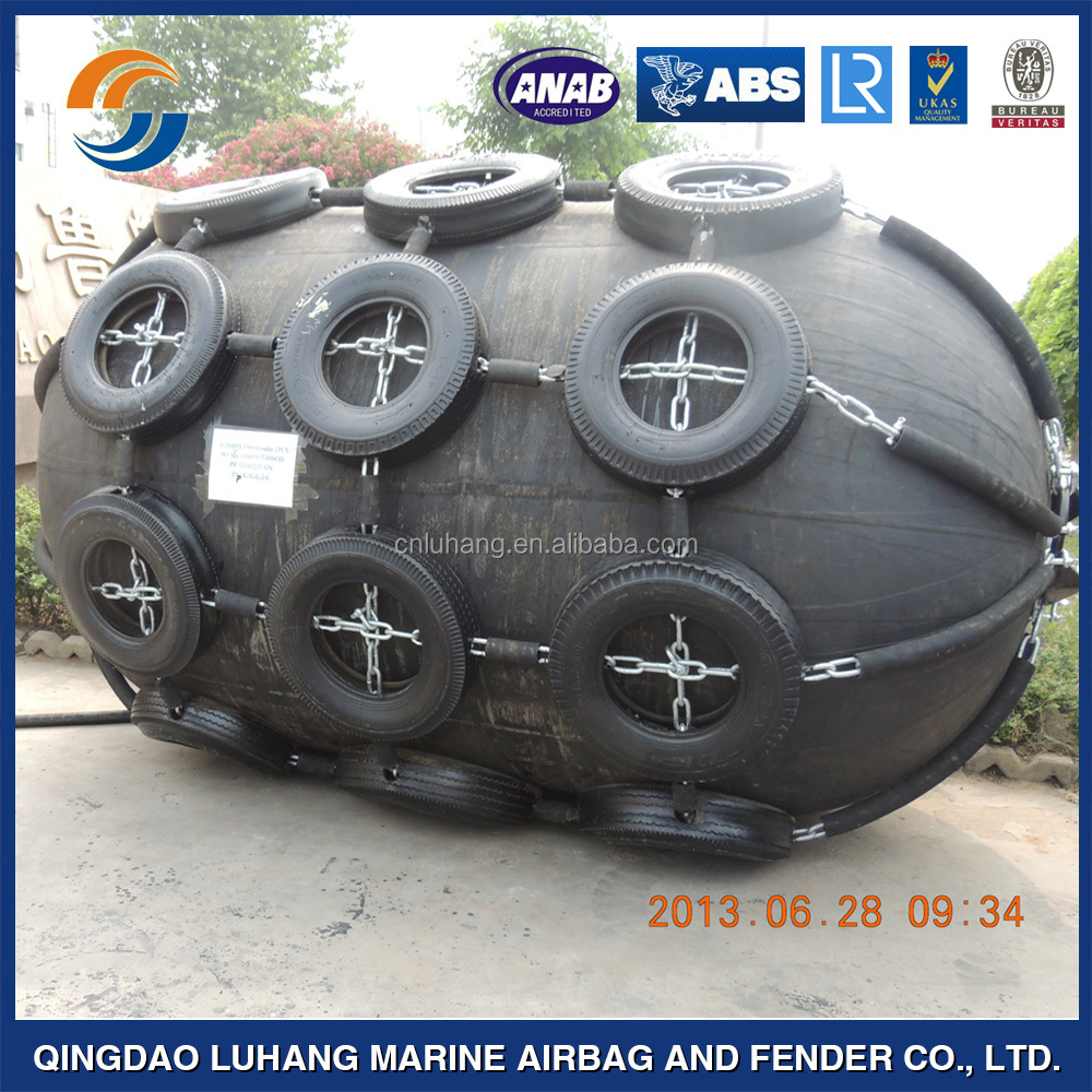 World class type rubber sling type floating pneumatic fender