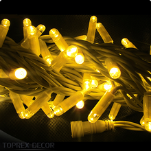 TOPREX DECOR Holiday light IP 65 Waterproof 10m 100 leds warm white christmas fairy string lights outdoor