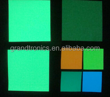 0.02 green color printable photoluminescent glow in the dark luminous a4 paper