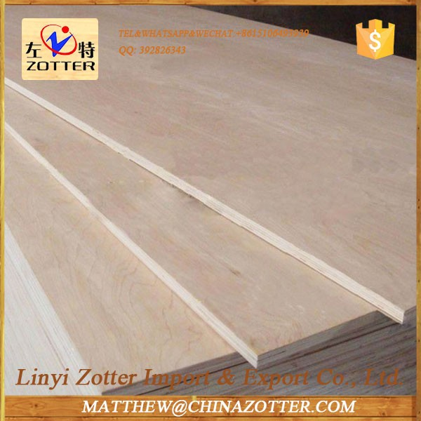 China Supplier Low Price 2440X1220mm or custom Lumber Plywood