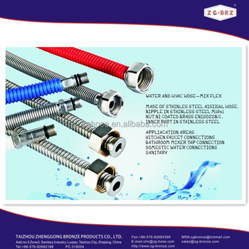 "F1/2"" XM10x1 AISI304 Stainless steel corrugated hose"