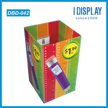 Cardboard dump bin retail display stand for pen retail