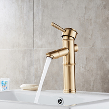 Brass classical water mixer single hole metered electroplating kitchen sink faucet