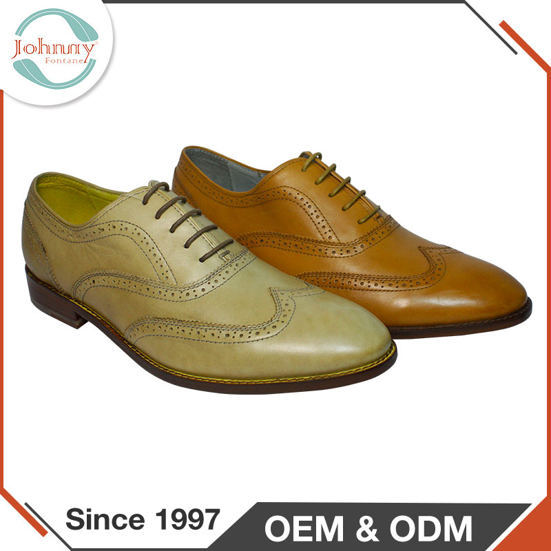 Top Brand Pig Skin Insole Dress Brogue Oxford Shoes For Men