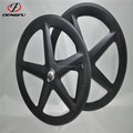 DengFu 3K matt TT bike clincher carbon 5 spoke bicycle wheels