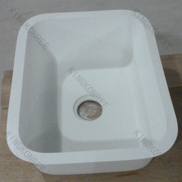 Faux stone solid surface single bowl royal kitchen sink