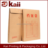 wholesame A4 size kraft envelope with string and bottom