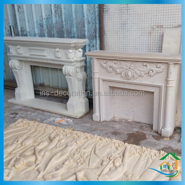 Sandstone lowes fireplace mantels