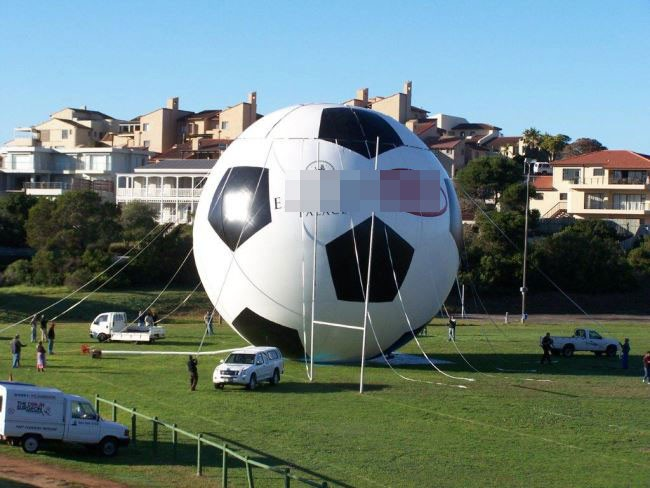 outdoor ball giant inflatable football with logo printing