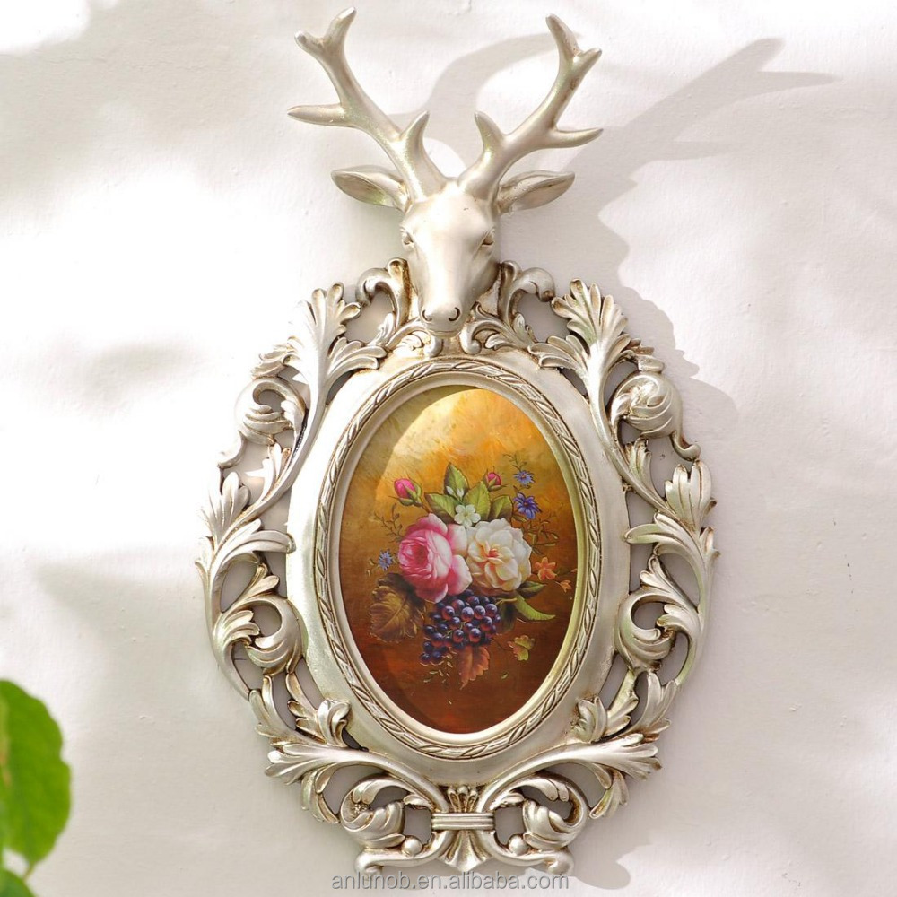 Hot selling product 2016 home decoration art and craft animal head decorative images of handmade wall hanging