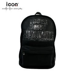 Sport leisure travel outdoor black school backpack for university students