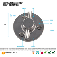 High precise OEM round die casting aluminum enclosure with ISO