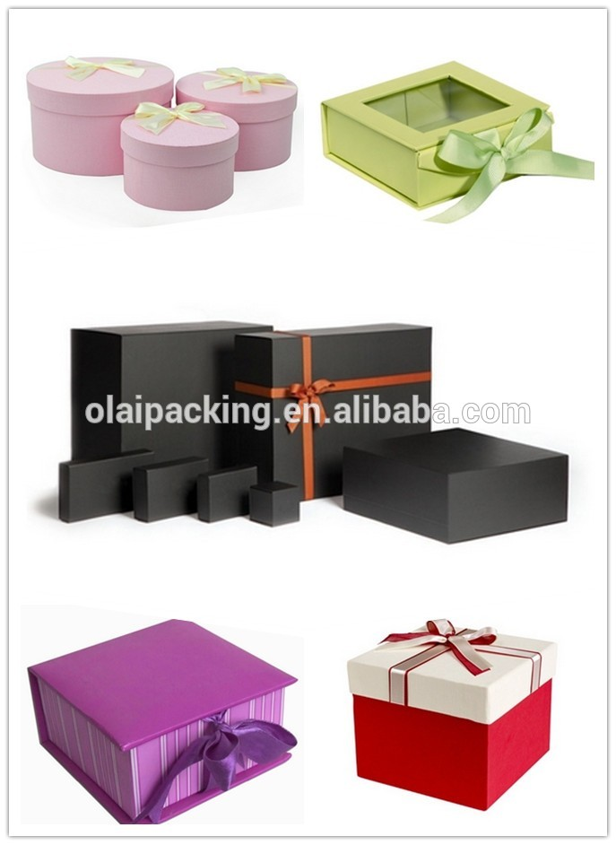 Customized magnetic closure gift box china wholesale cheap paper jewelry box