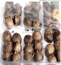 China organic black garlic, organic many heads black garlic