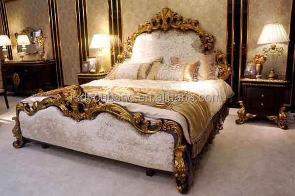 0063 2014 Solid wood king size high quality classic luxury Italian ...