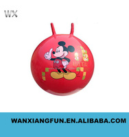 Wholesale cheap toys pvc inflatable bouncy handle ball for kids
