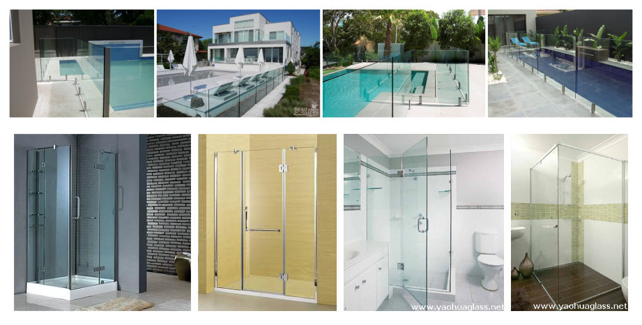 3-19mm for shower doors for window heat soaked glass