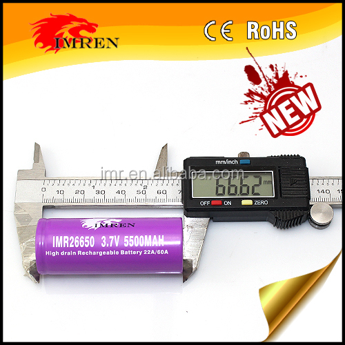 Newest 26650 battery 5500mah 60A high capacity 26650 batery 60amp imr 26650 Li-Mn battery