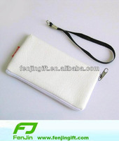 promotion customized PU cellphone bag,handphone bag with hand strap