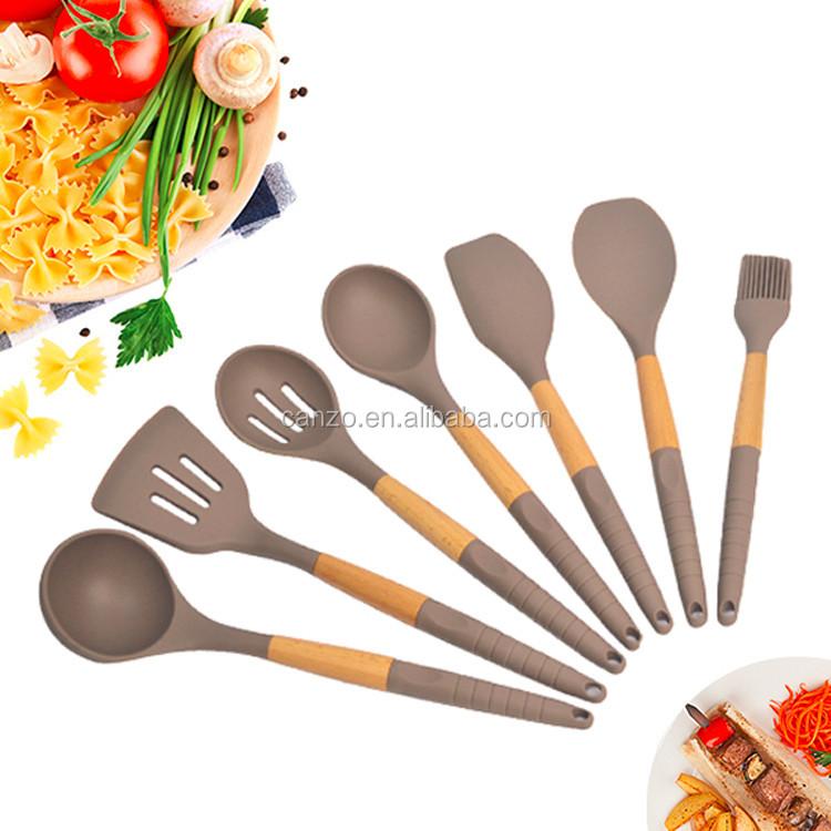 Kitchen Utensils Product ~ Fashion design silicone cooking utensils set kitchenware