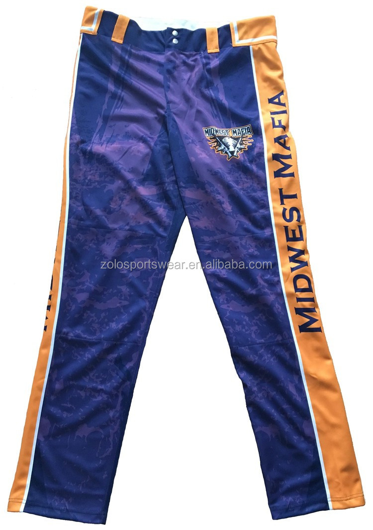 2017 new style full-size printing 100% polyester men's baseball pants