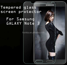 Tempered Glass Screen Protector for Samsung Galaxy Note3, 9H Super Hardness